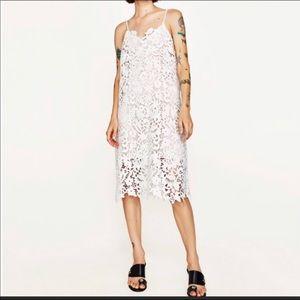 b52af7bc2e0a Women White Zara Lace Dress on Poshmark
